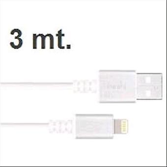 Moshi lightning cable white aluminium 3 mt. for ipod iphone ipad