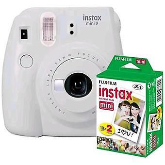 Fujifilm instax mini 9 kit 20 smoky white prints