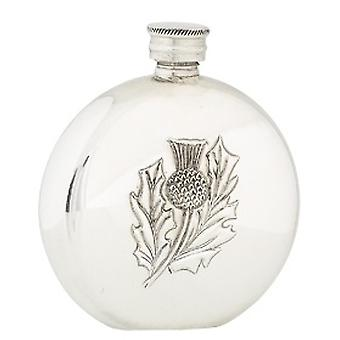 Single Scottish Thistle Design 6oz Hip Flask (FL32P CB)