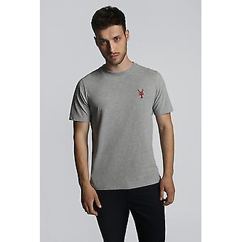 Hymn Lobster Embroidered Lobster Shirt Grey