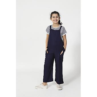 Sugarplum sleeveless cropped jumpsuit for girls - blue