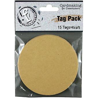 Fundamentals Tags 15/Pkg-Medium cirkel/Kraft FNT36