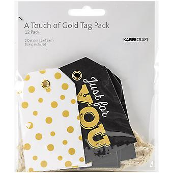 A Touch Of Gold Tags W/String 2