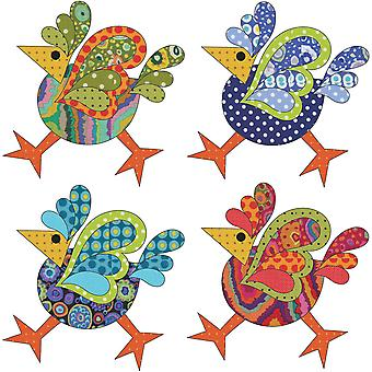 Urban Elementz Fusible Applique-Funky Chicken Set -Dotz Small UEA0770D