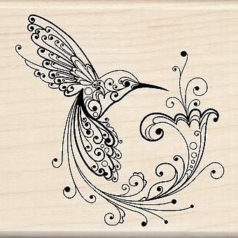 Inkadinkado Mounted Rubber Stamp Hummingbird I6000052
