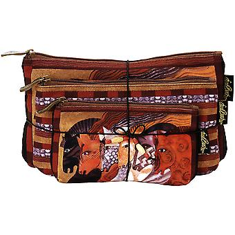 Cosmetic Bag Set Of Three Moroccan Mares Lb5333