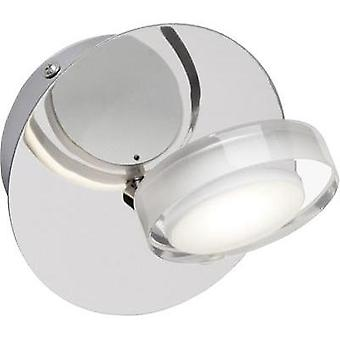 LED pared proyector 5 W cálido blanco brillante Calvin G33210/15 cromo