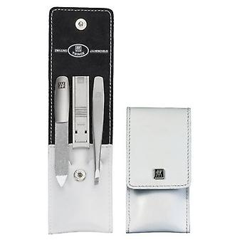 Zwilling Wallet Case, Leather Legitimate spazzolato, White, 3 Pieces