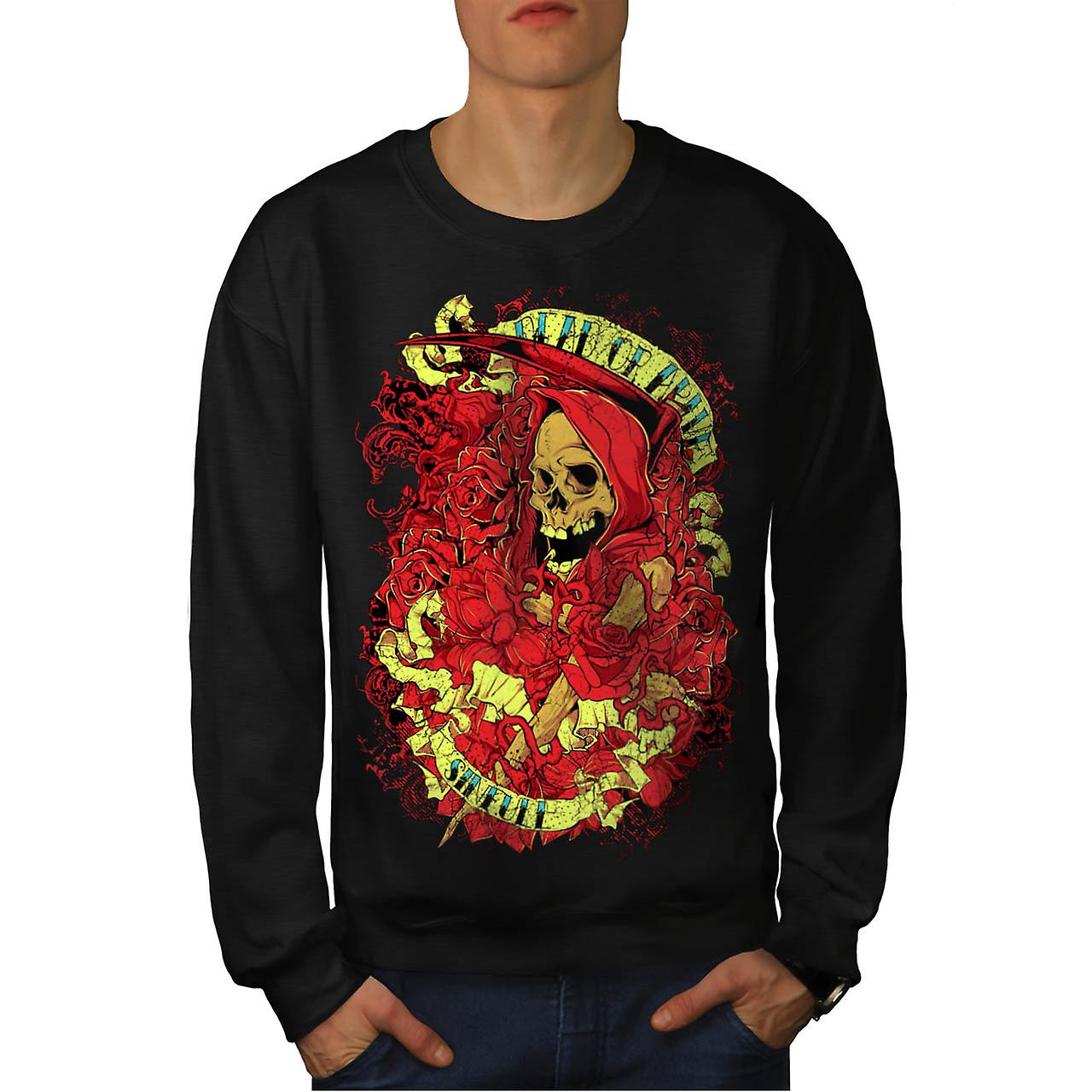 Dead Alive Sinful Skull Men Black Sweatshirt | Wellcoda
