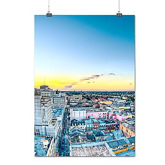 Matte or Glossy Poster with Dawn Urban Photo Fashion City Skyline | Wellcoda | *q1249