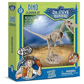 Geoworld Dino Excavation Kit - Velociraptor Skeleton