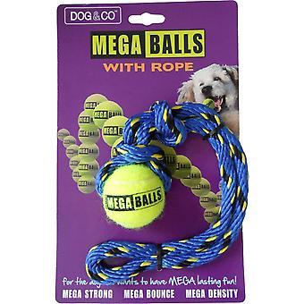 Hund & Co Mega Ball med reb 1,8