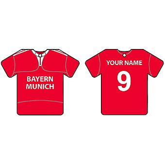 Personalised Bayern Munich Football Shirt Car Air Freshener