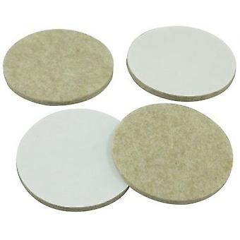 4 Piece 75mm Felt Pads