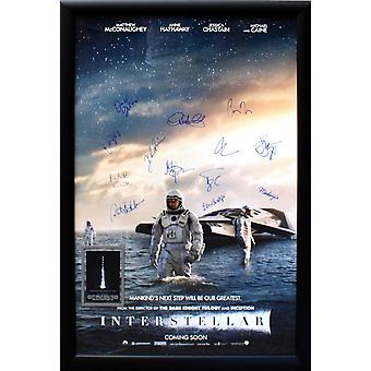 Interstellare - underskrevet film plakat