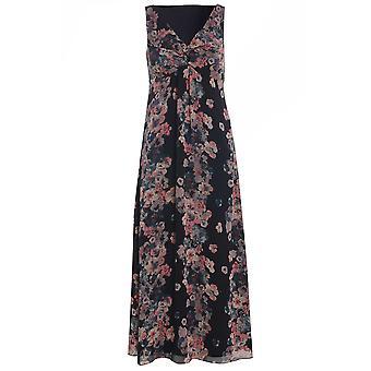 Per Una ärmlös blommig randiga Maxi klänning