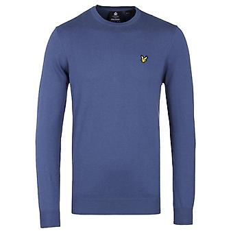 Lyle & Scott Storm Blue Marl Merino Cotton Sweater