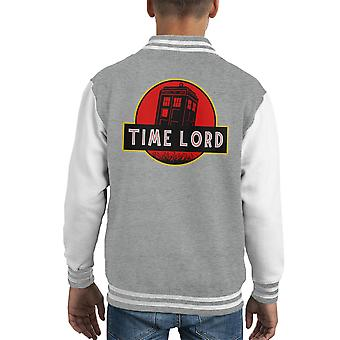 Dr Who Jurassic Park Time Lord Kid's Varsity Jacket