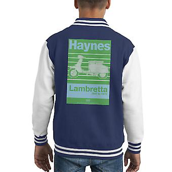 Haynes Owners Workshop Manual Lambretta 47 To 72 Kid's Varsity Jacket