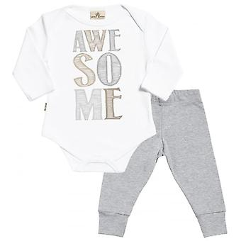 Spoilt Rotten AWESOME Babygrow & Jersey Trousers Outfit Set