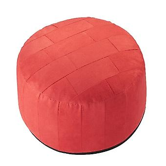 Coussin rond pouf PATCHWORK Alka rouge 34 x 50 x 50 cm