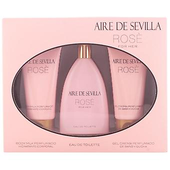 Aire De Sevilla Rose Case (Colonia 150 + Body + Gel)