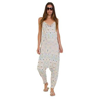 Jersey Jumpsuit - Aztec Grey Lightweight Harem Pants Stretch Relaxed Fit Playsui