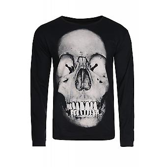 JUNK YARD hate skull shirt men's long sleeve black skull