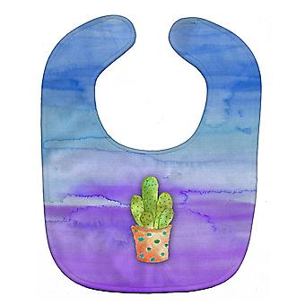 Carolines Treasures  BB7363BIB Cactus Blue and Purple Watercolor Baby Bib