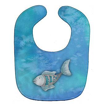 Carolines Treasures  BB7386BIB Blue Fish Watercolor Baby Bib