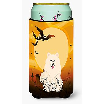 Halloween Samoyed Tall Boy Beverage Insulator Hugger