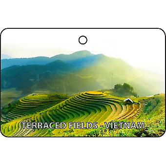 Terraced Fields - Vietnam Car Air Freshener