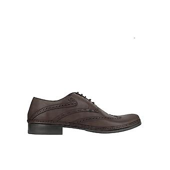 Pakerson men's 15066200 brown leather lace-up shoes