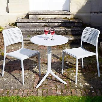 Nardi Step Bistro Set With Bistrot Chairs