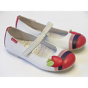 Garvalin WHITE SHOE WITH APPLE