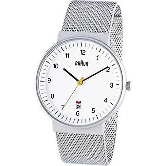 Braun Classic Watch with Stainless Steel Strap (BN0032WHSLMHG)