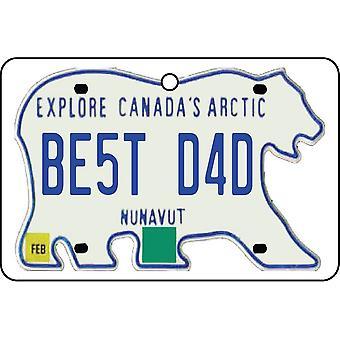 NUNAVUT - Best Dad License Plate Car Air Freshener