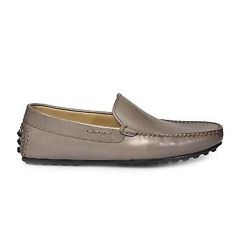 Triver flight mens 98027 grey LEDER moccasins