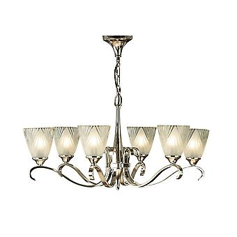 Interiors 1900 63442 Columbia 6 Light Ceiling Fitting In Nickel Finish