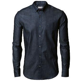 Nimbus Mens Torrance Cotton Slim Fit Long Sleeved Denim Shirt