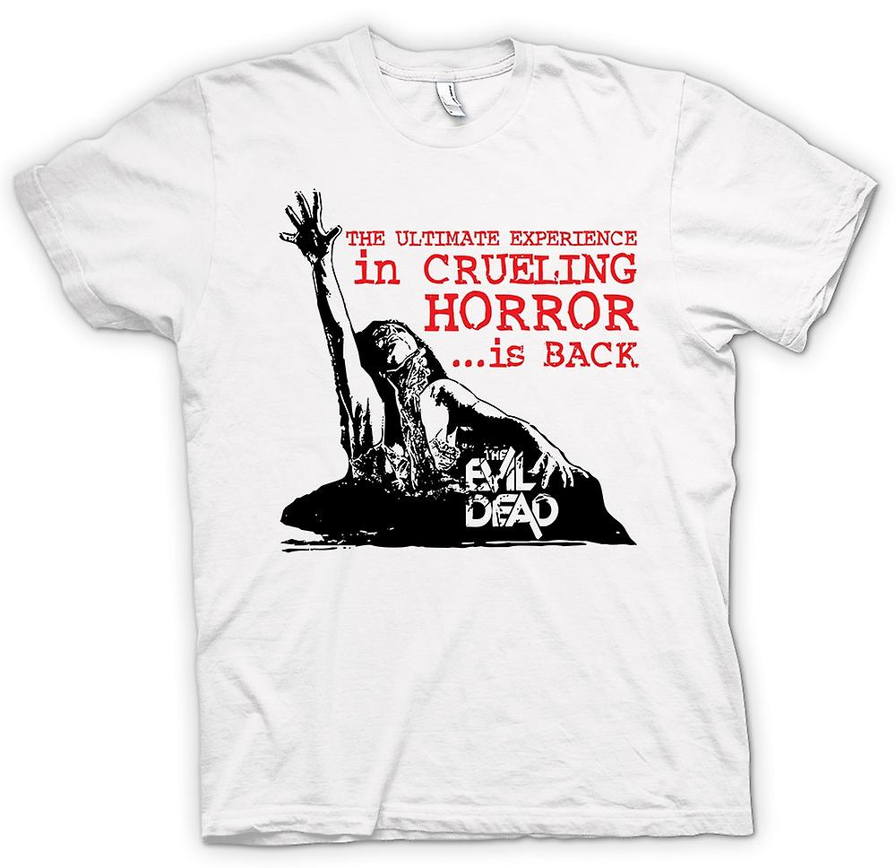Heren T-shirt-The Evil Dead wrede - horrorfilm