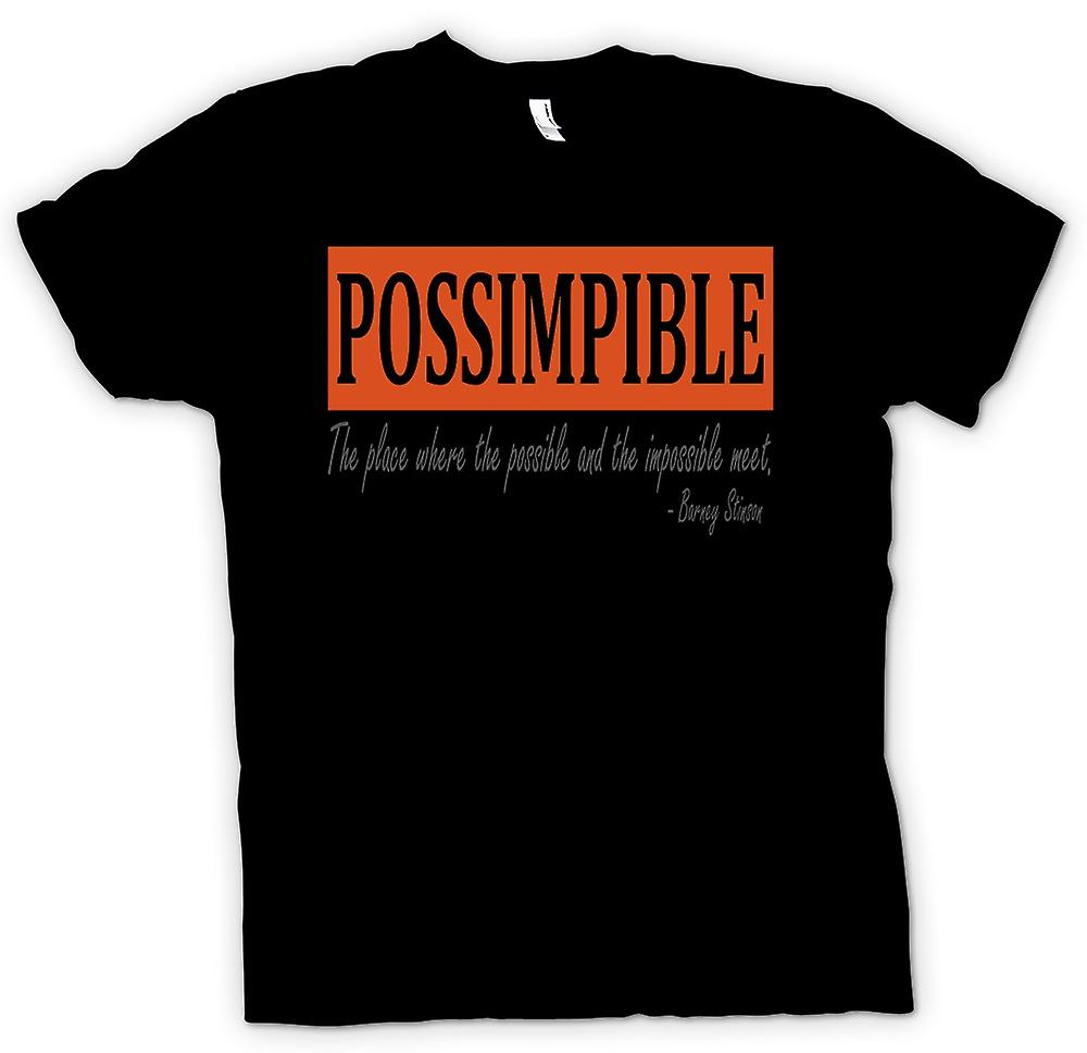 Herr T-shirt-POSSIMPIBLE Cool