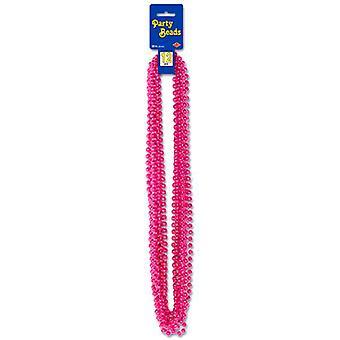 Metallische Cerise Pink Party-Perlen