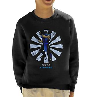 Mortal Kombat Sub Zero Retro Japanese Kid's Sweatshirt