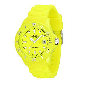 Candy time by Madison N.Y.. watch unisex U4503-50-1 neon yellow