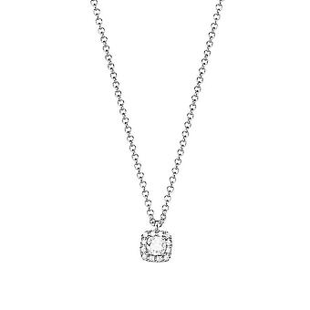 ESPRIT women's chain necklace silver cubic zirconia Solitaire ESNL92888B420