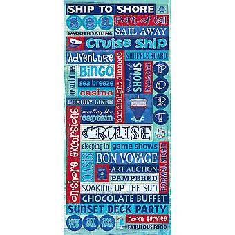 Cruise Stickers Packaged-Glitter Word