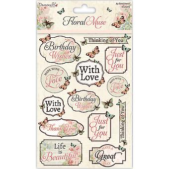 Dovecraft Floral Muse A5 Stickers-Sentiments