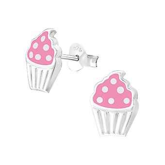 Cupcake - 925 Sterling Silver Colourful Ear Studs