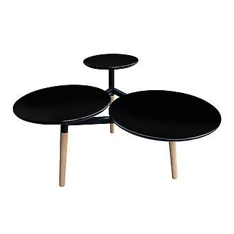 TABLES HANDCRAFTED WITH HIGH-GLOSS COATING BAMBOO BLACK TRAY TABLE